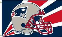 New England Patriots Team Helmet Banner Flag 3'x5' NFL Licensed