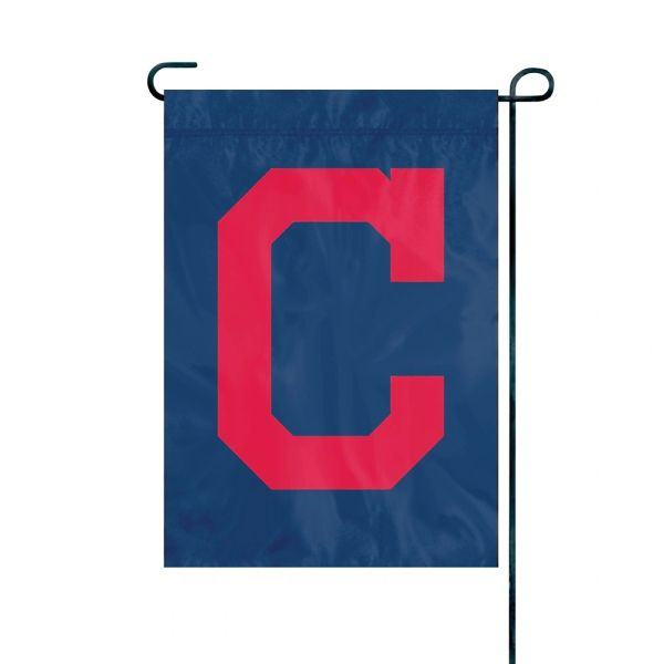 "Cleveland Indians ""C"" Garden Flag Embroidered 12.5"" x 18"""