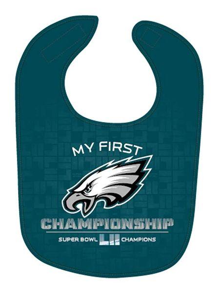 Philadelphia Eagles Super Bowl LII Champions Baby Bib NFL Licensed