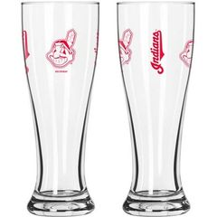 Cleveland Indians Chief Wahoo 16 Ounce Pilsner Glass