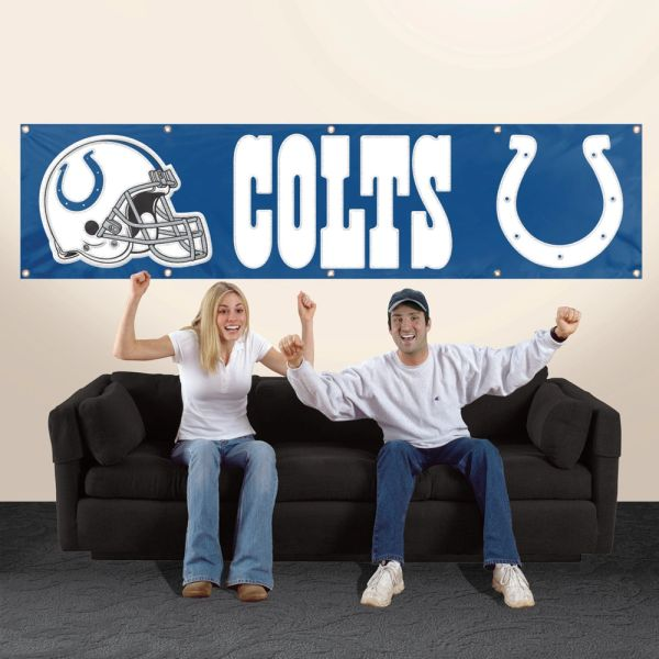 Indianapolis Colts 2' x 8' Wall Banner Flag NFL Licensed