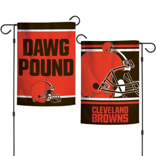 "Cleveland Browns DAWG POUND 2 Sided Garden Flag 12"" x 18"""
