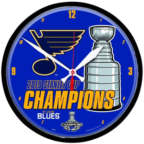 St. Louis Blues 2019 Stanley Cup Champions Wall Clock NHL Licensed