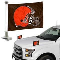 Cleveland Browns Team Logo Ambassador Car Flag Set NFL