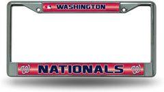 Washington Nationals Chrome Bling License Plate Frame MLB Licensed