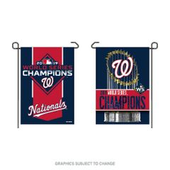 "Washington Nationals 2019 World Series Champions 2 Sided Garden Flag 12"" x 18"""