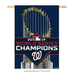"Washington Nationals World Series Champions Vertical Flag 28"" x 40"""