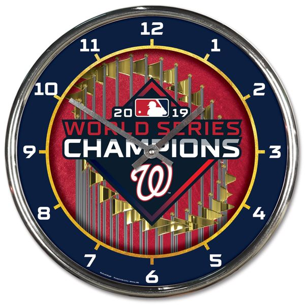 Washington Nationals 2019 World Series Champions Wall Clock MLB Licensed