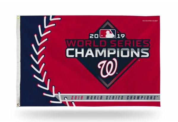 Washington Nationals 2019 World Series Champions Wall Banner Flag MLB Licensed