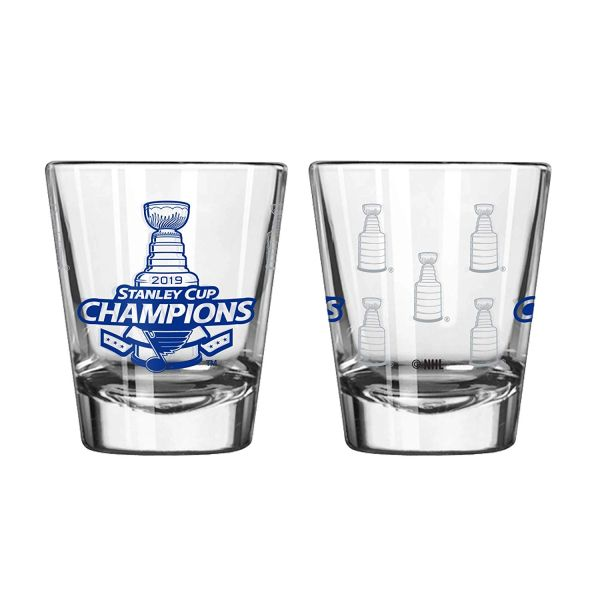 St. Louis Blues 2019 Stanley Cup Champions Etch Shot Glass 2oz. NHL