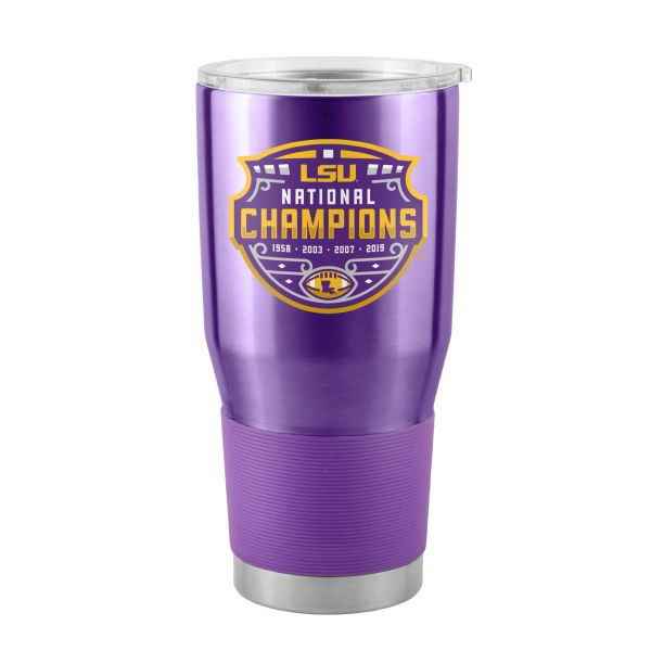 LSU Tigers 2019 FBS National Champions 30oz. Insulated Painted Stainless Steel Ultra Travel Tumbler