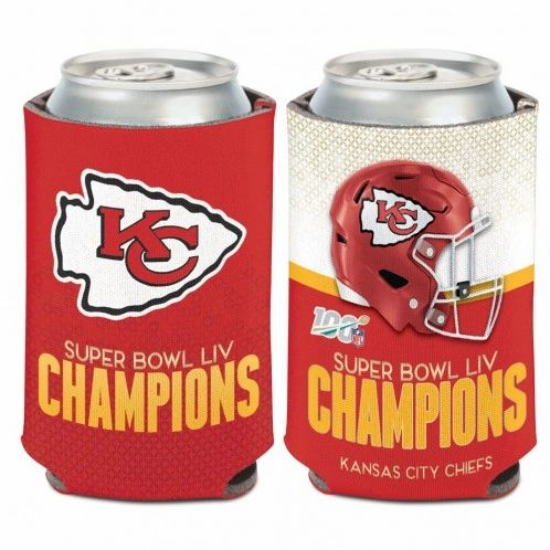 Kansas City Chiefs Super Bowl 54 Champions Can Cooler Koozie