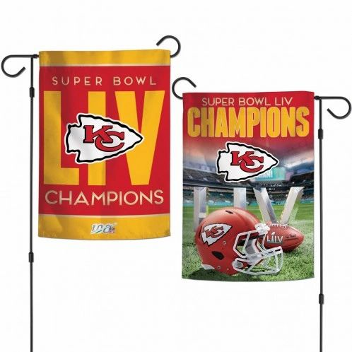 Kansas City Chiefs Super Bowl LIV Champions 2 Sided Garden Flag