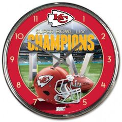 Kansas City Chiefs Super Bowl LIV Champions Wall Clock NFL Licensed