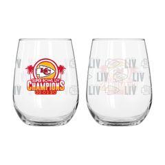 Kansas City Chiefs Super Bowl LIV Champions Stemless Wine Glass 16oz. NFL