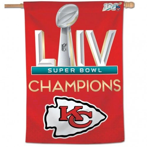 "Kansas City Chiefs Super Bowl LIV Champions Vertical Flag 28"" x 40"""