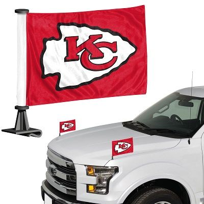 Kansas City Chiefs Team Logo Ambassador Car Flag Set NFL