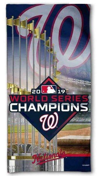 MLB Washington Nationals 2019 World Series Champions Beach Towel
