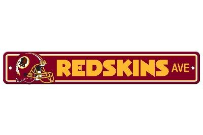 "Washington Redskins Acrylic Wall Street Sign 4"" x 24"" NFL Licensed"