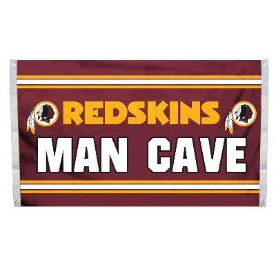 """Washington Redskins """"Man Cave"""" 3' x 5' Banner Flag NFL Licensed"""