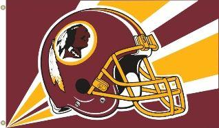 Washington Redskins Team Helmet Banner Flag 3'x5' NFL Licensed