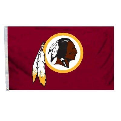 Washington Redskins Team Logo Banner Flag 3'x5' NFL Licensed