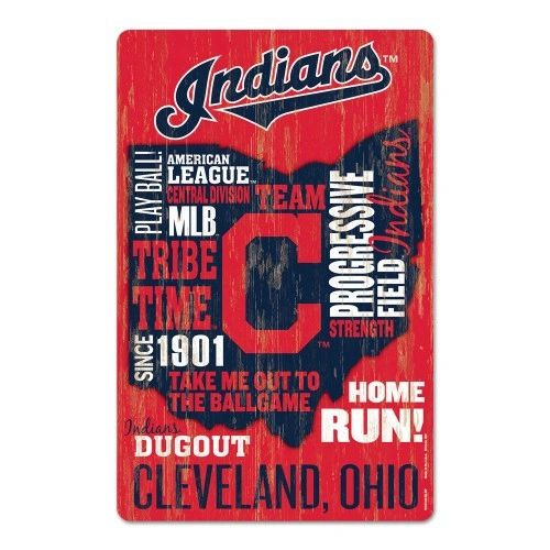 Cleveland Indians Wooden Wall Sign