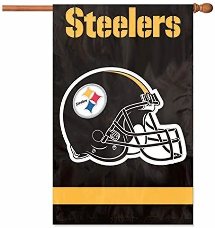 Pittsburgh Steelers 2 Sided Embroidered Vertical House - Wall Flag