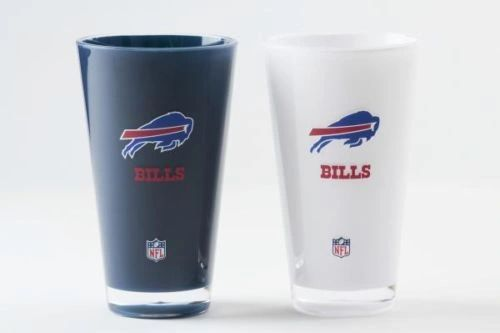 "Buffalo Bills Acrylic 2 Pack Tumbler Cup 20oz. ""On Field Colors"" Insulated/Shatterproof NFL Licensed FREE SHIPPING"