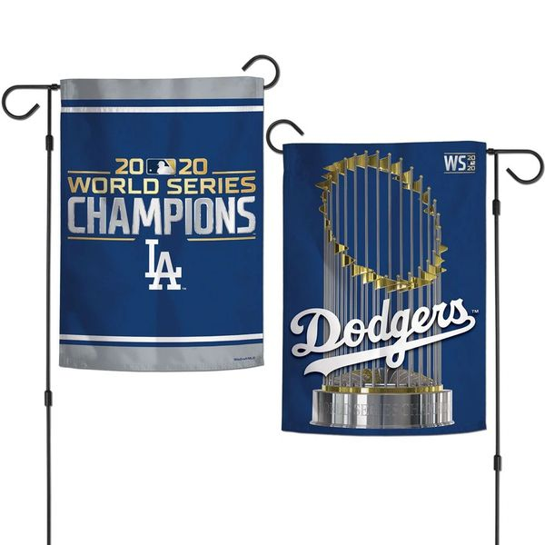 Los Angeles Dodgers 2020 World Series Champions 2 Sided Garden Flag