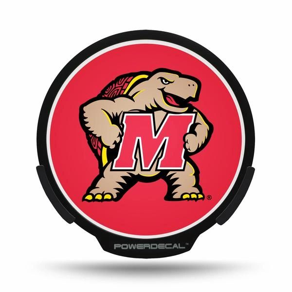 Maryland Terrapins LED Window Decal Light Up Logo Powerdecal NCAA