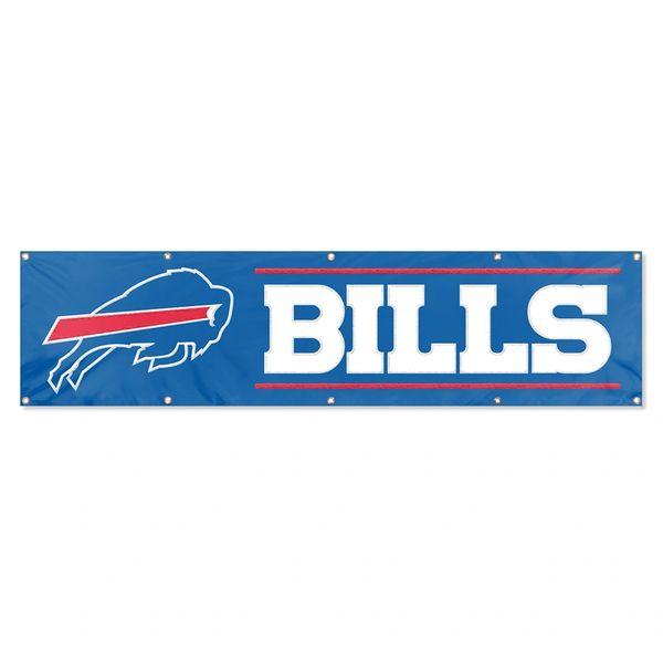 Buffalo Bills 2' x 8' Wall Banner Flag NFL Licensed