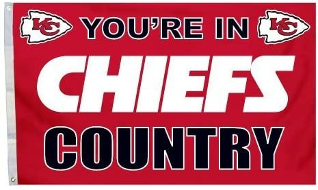 Kansas City Chiefs You're In Country Banner Flag 3' x 5' NFL Licensed