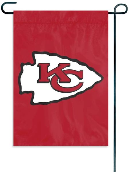 "Kansas City Chiefs Garden Flag Embroidered 12.5"" x 18"""
