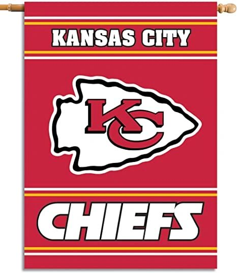 Kansas City Chiefs 2 Sided Vertical House - Wall Flag