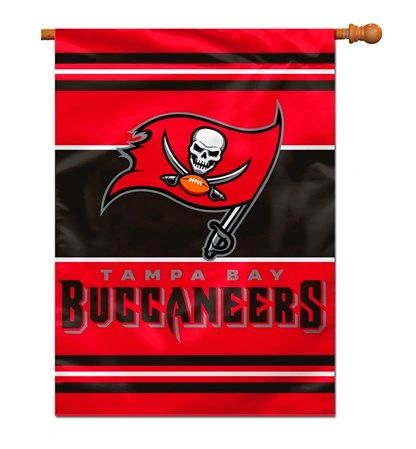 Tampa Bay Buccaneers 2 Sided Vertical House - Wall Flag