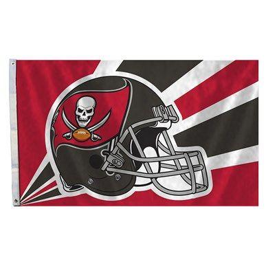 Tampa Bay Buccaneers Team Helmet Banner Flag 3'x5' NFL Licensed