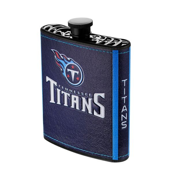 Tennessee Titans NFL Plastic Hip Flask w/ Team Colors and Logo
