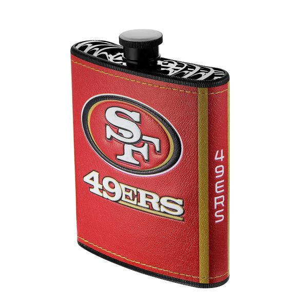 San Francisco 49ers NFL Plastic Hip Flask w/ Team Colors and Logo