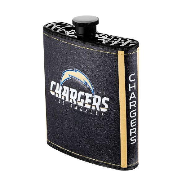 Los Angeles Chargers NFL Plastic Hip Flask w/ Team Colors and Logo
