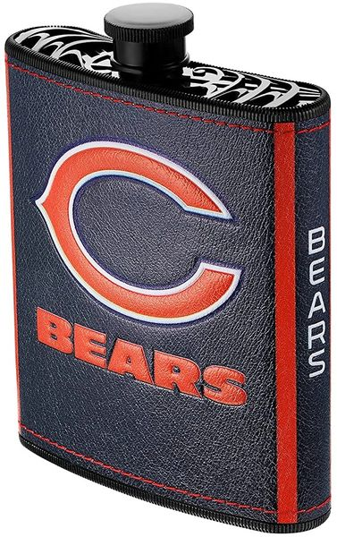 Chicago Bears NFL Plastic Hip Flask w/ Team Colors and Logo