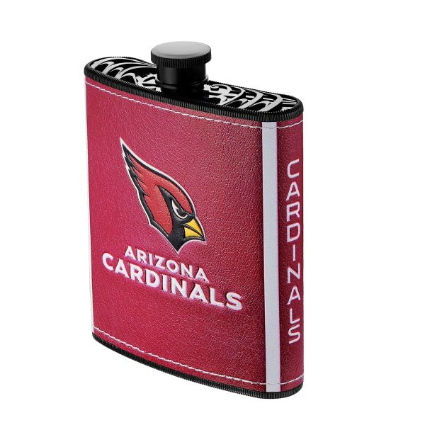 Arizona Cardinals Plastic Hip Flask w/ Team Colors and Logo