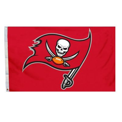 Tampa Bay Buccaneers Team Logo Banner Flag 3' x 5' NFL Licensed