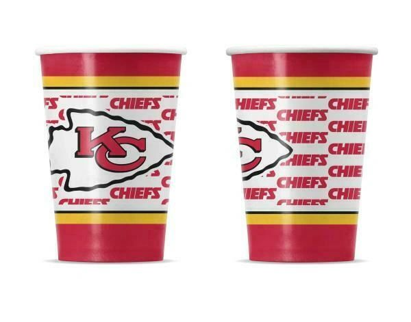 Kansas City Chiefs 10 Pack Disposable Paper Cups NFL