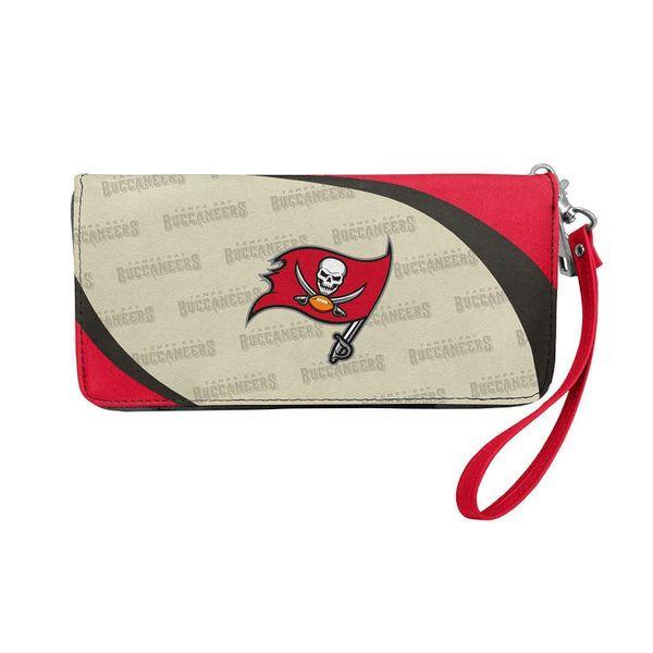 Tampa Bay Buccaneers Team Logo Women's Curve Zip Organizer Wristlet Wallet NFL