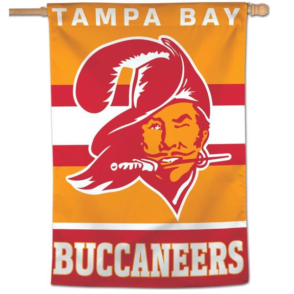 "Tampa Bay Buccaneers Throwback Vintage Vertical Flag 28"" x 38"""