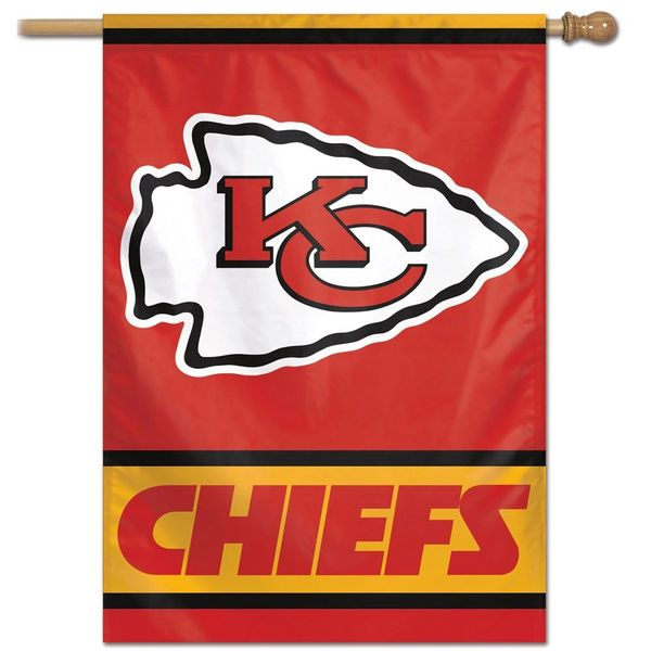 "Kansas City Chiefs Team Logo Vertical Flag 28"" x 40"""