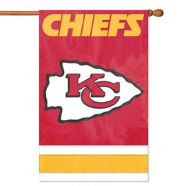 Kansas City Cheifs 2 Sided Embroidered Vertical House - Wall Flag