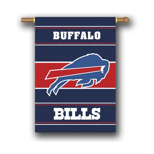Buffalo Bills 2 Sided Vertical House - Wall Flag