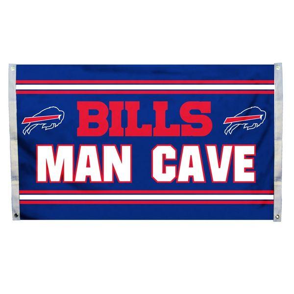 """Buffalo Bills """"Man Cave"""" 3' x 5' Banner Flag NFL Licensed"""